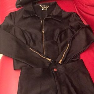 Vintage 2 piece spandex outfit